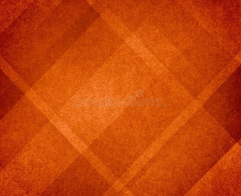 橙色感恩或秋天背景摘要设计 向量例证