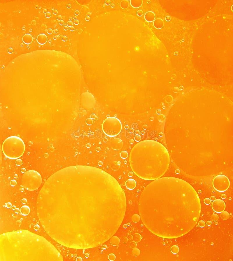 橙色抽象泡影背景。 免版税库存图片