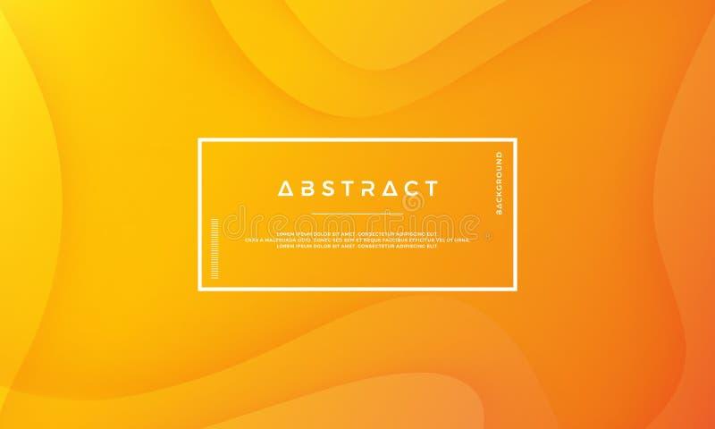橙色抽象背景适用于网、倒栽跳水、盖子、小册子,网横幅和其他 向量例证