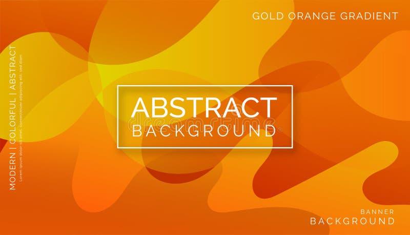 橙色抽象背景,现代五颜六色的背景,动态抽象背景 免版税库存图片