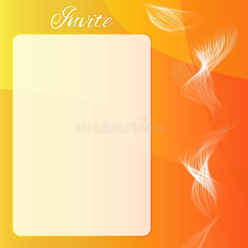 橙色摘要邀请与混合的卡片 免版税图库摄影