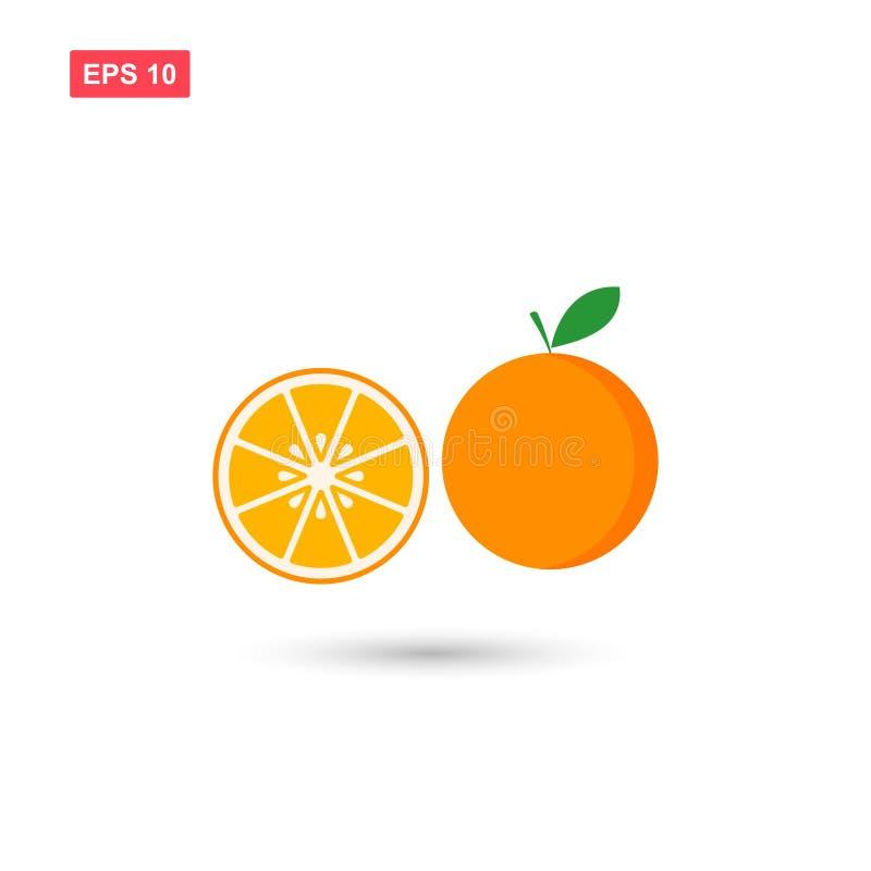 橙色新水多的果子vecor象隔绝了 皇族释放例证