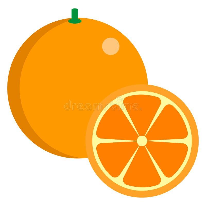 橙色新水多的柑桔象,传染媒介例证 向量例证