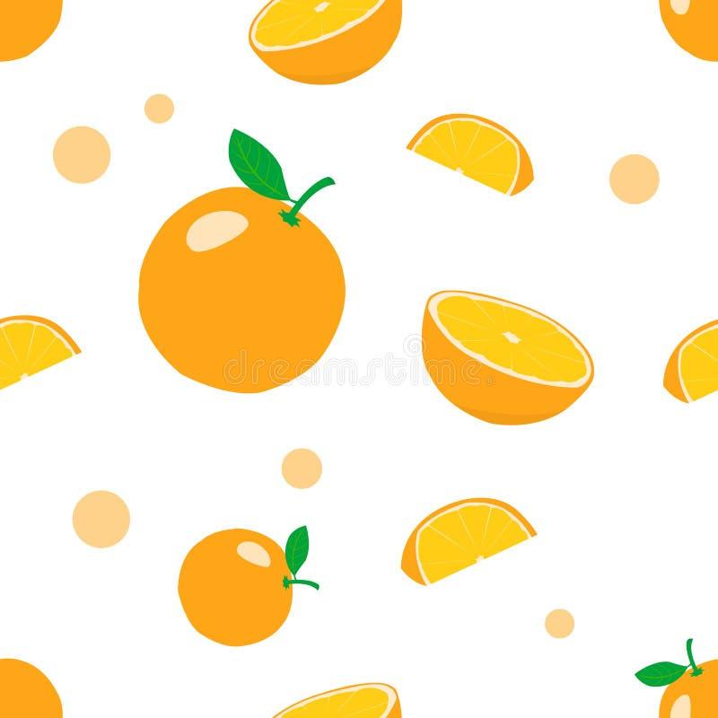 橙色无缝的样式背景 ?? 库存例证
