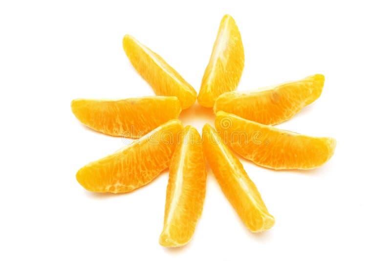 橙色星形 库存照片