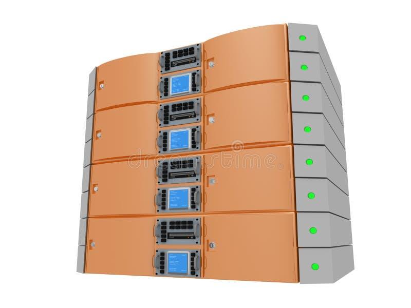 橙色服务器孪生 库存例证