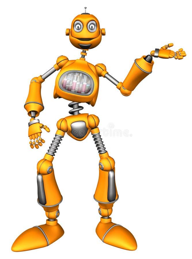 橙色机器人 皇族释放例证