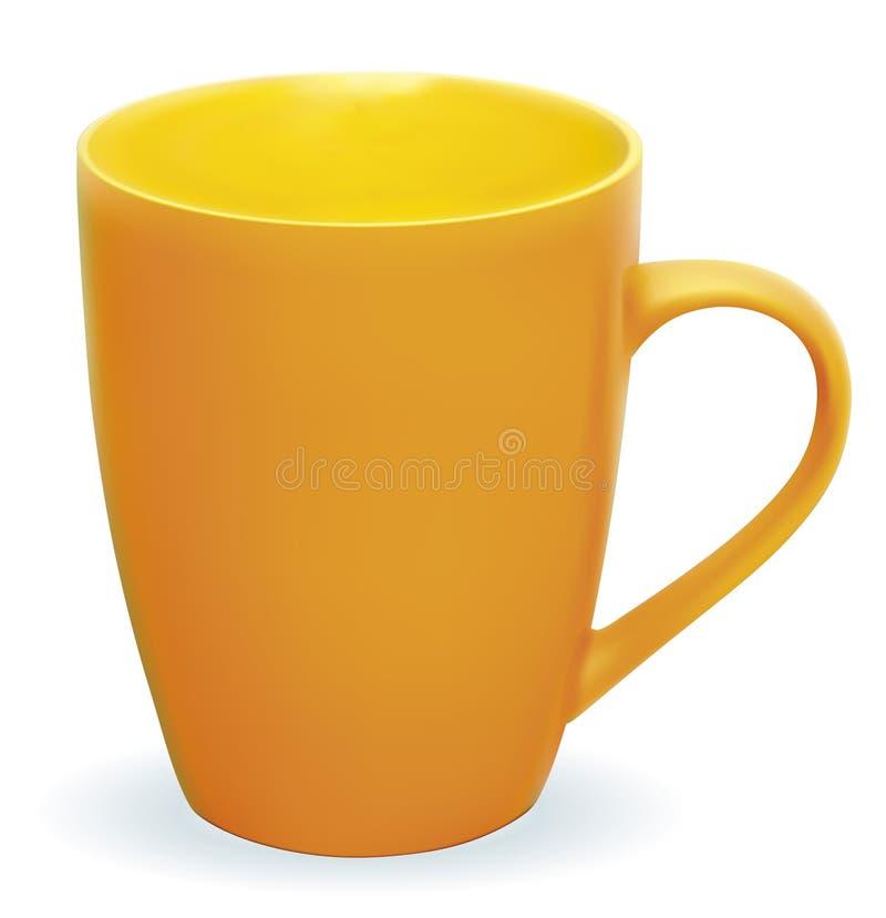 橙色杯子 库存例证