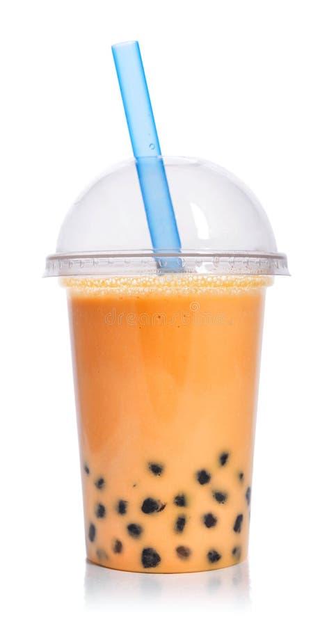 橙色果子泡影茶 免版税库存照片