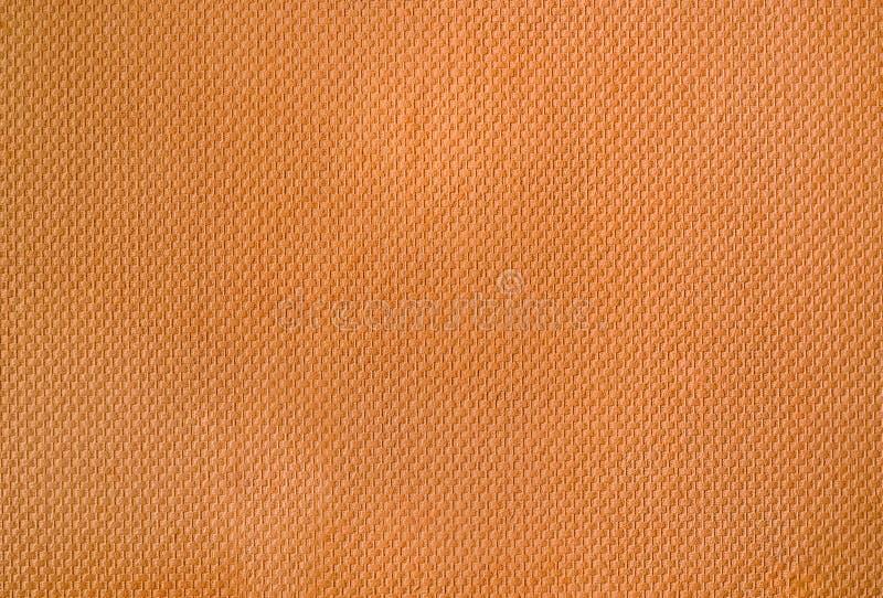 橙色柳条墙纸纹理  免版税图库摄影