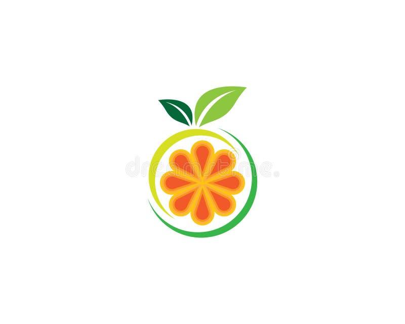 橙色标志例证 库存例证