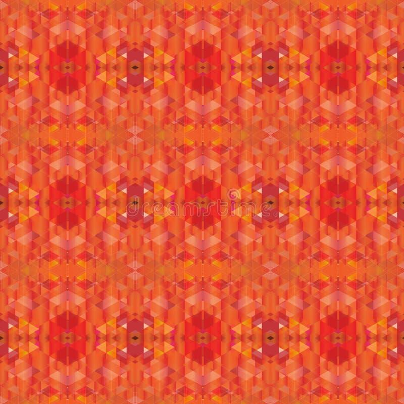橙色树荫多角形无缝的背景 库存照片