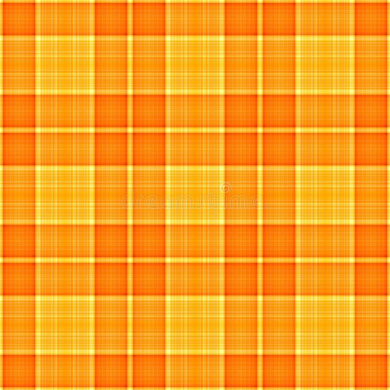 橙色格子花呢披肩黄色 库存例证