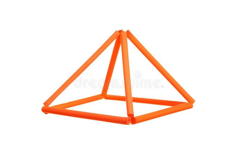 橙色棱镜 免版税库存图片