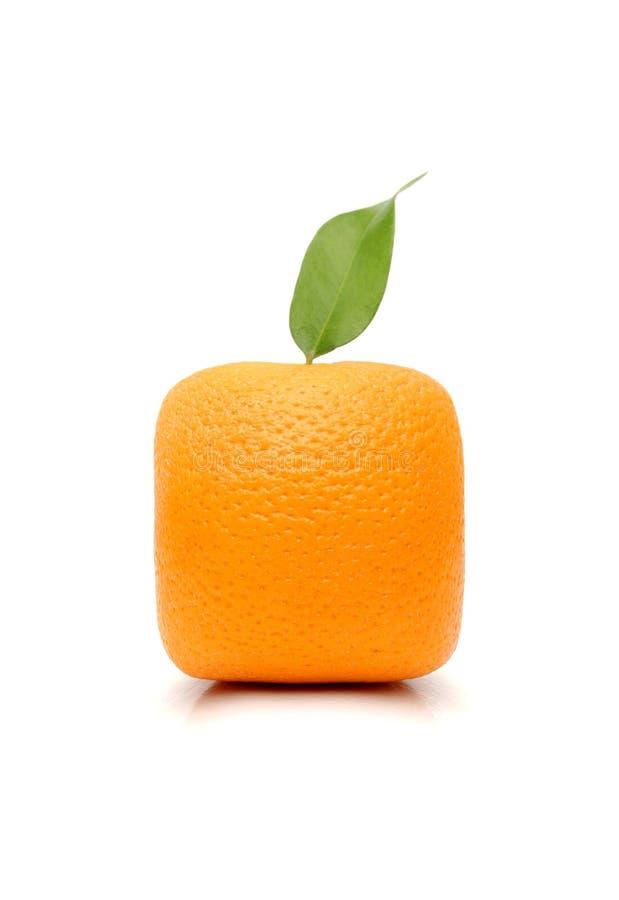 橙色正方形 免版税图库摄影