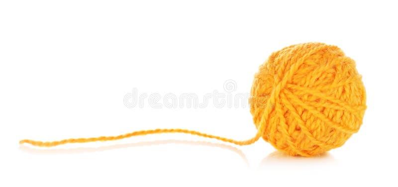橙色毛线球 库存照片