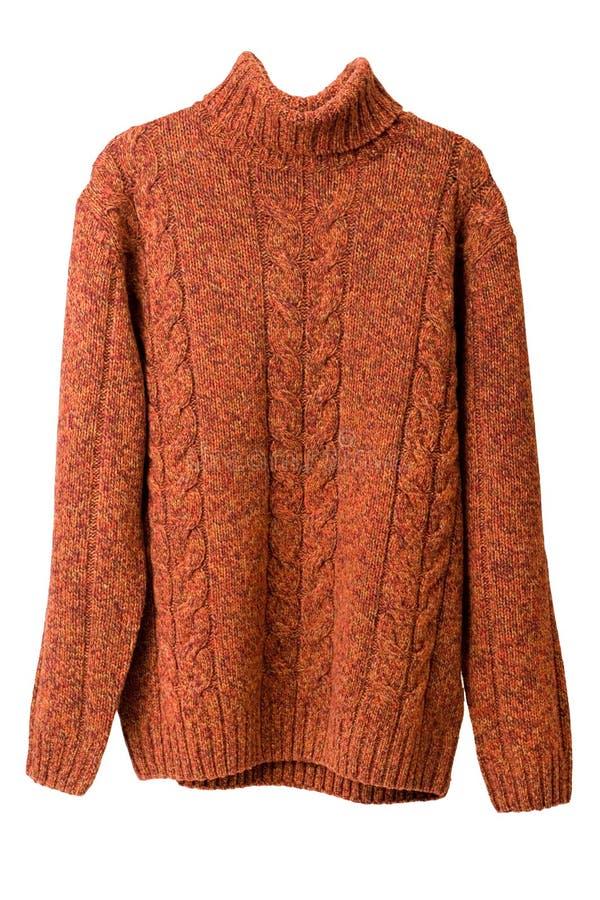 橙色毛线衣 库存图片