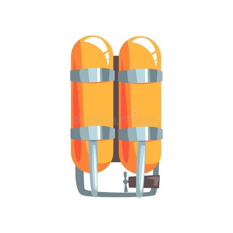 橙色氧气瓶传染媒介例证 向量例证
