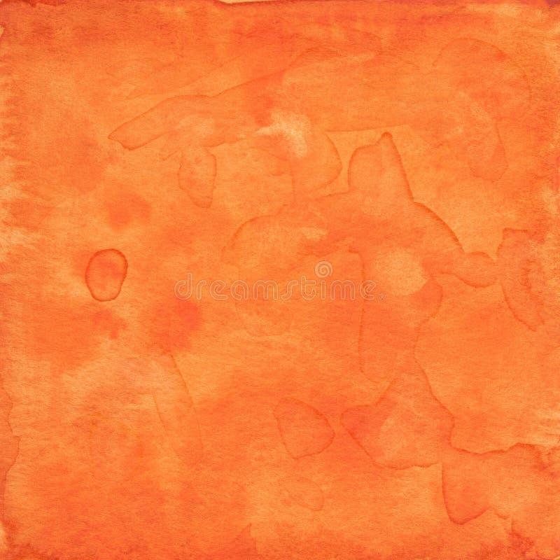 橙色水彩纹理 图库摄影