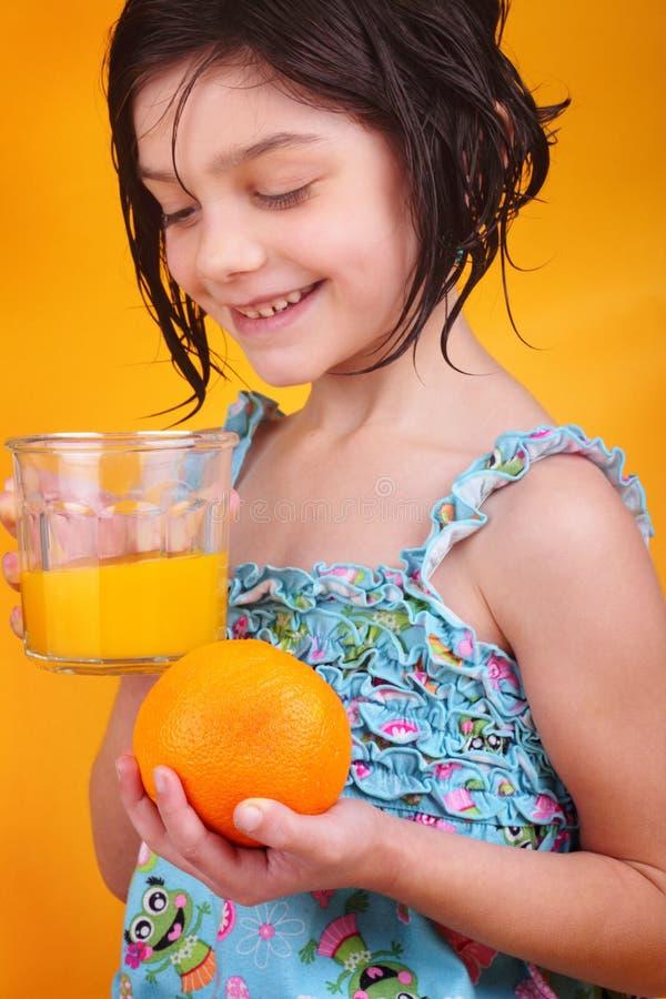 橙色汁液的早晨 图库摄影