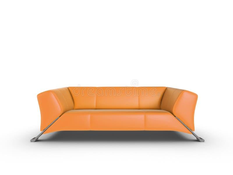 橙色沙发 皇族释放例证