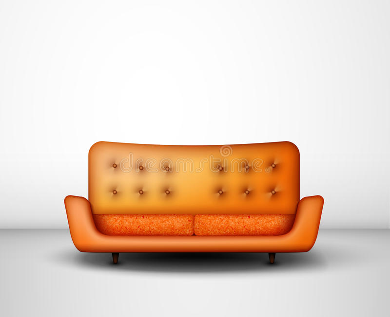 橙色沙发 向量例证