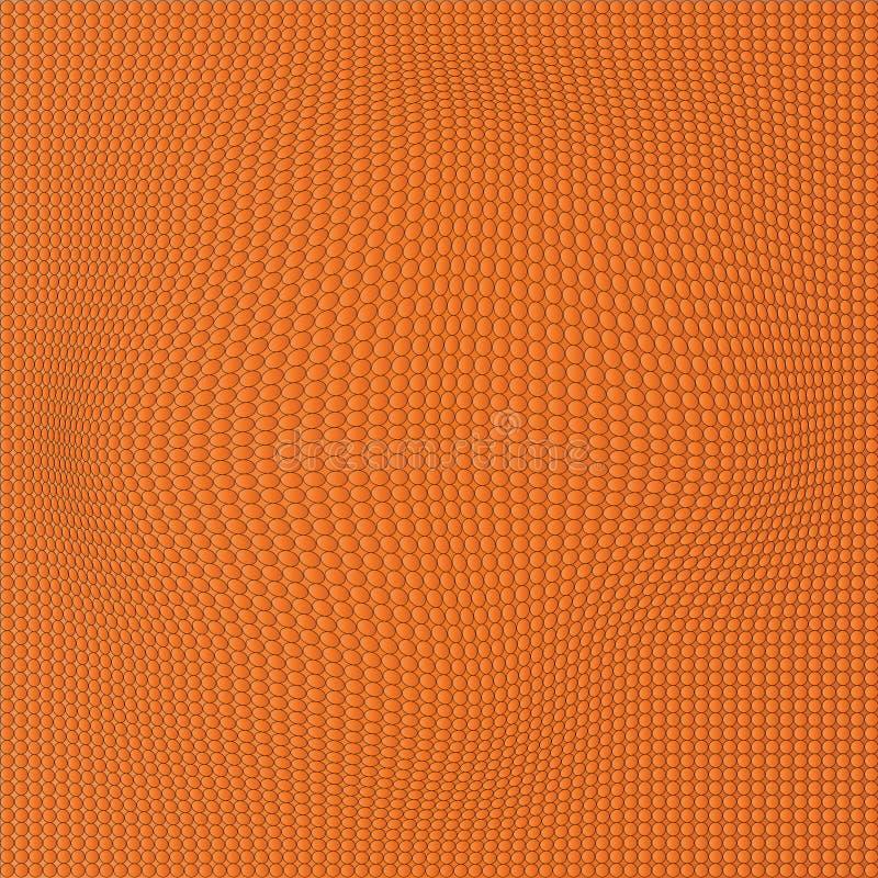 橙色波浪小点背景 抽象墙纸 库存例证