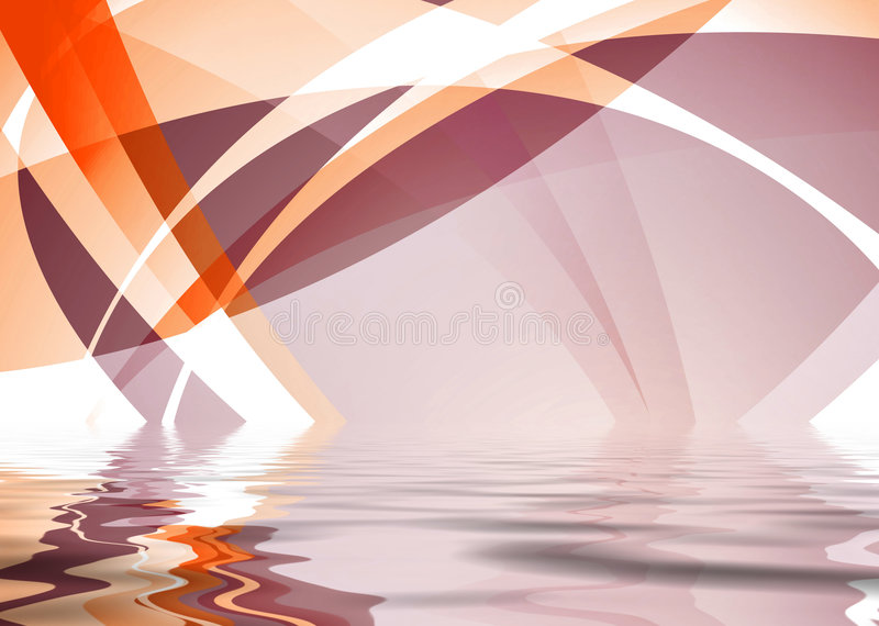 橙色波纹 向量例证