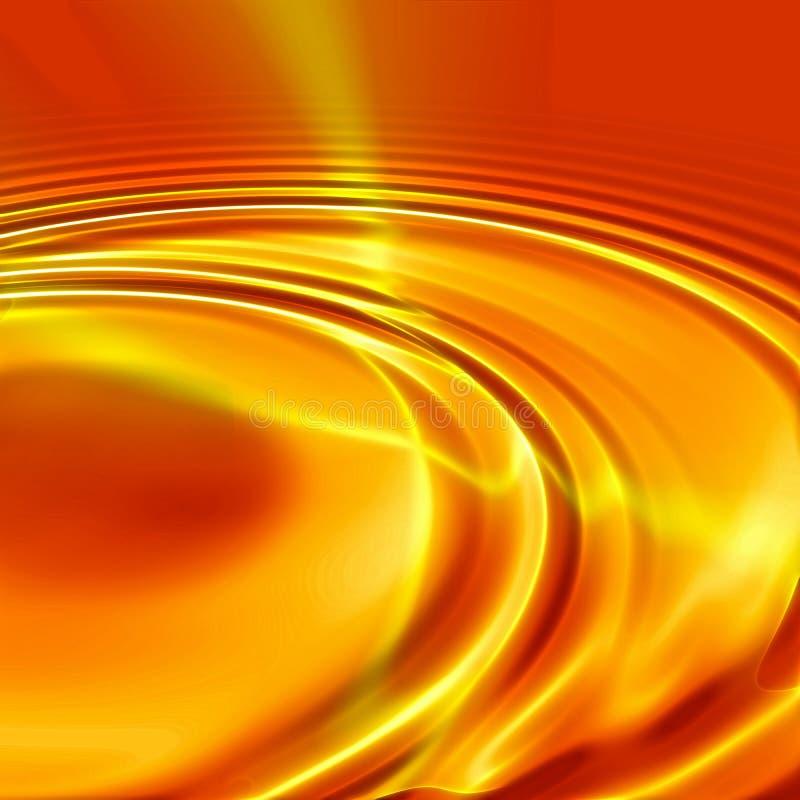 橙色波纹 库存例证