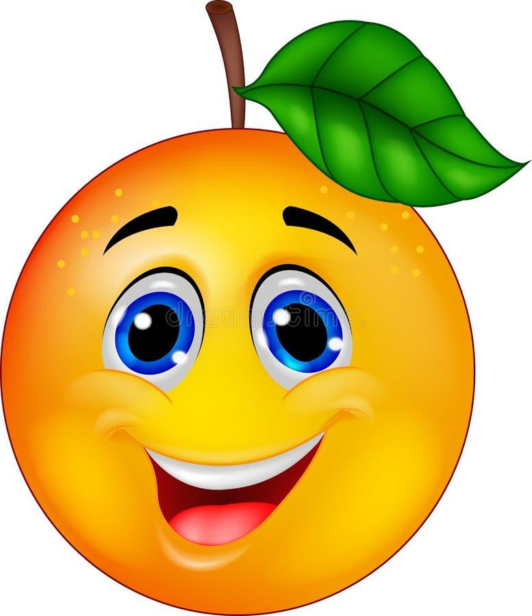 橙色漫画人物 库存例证