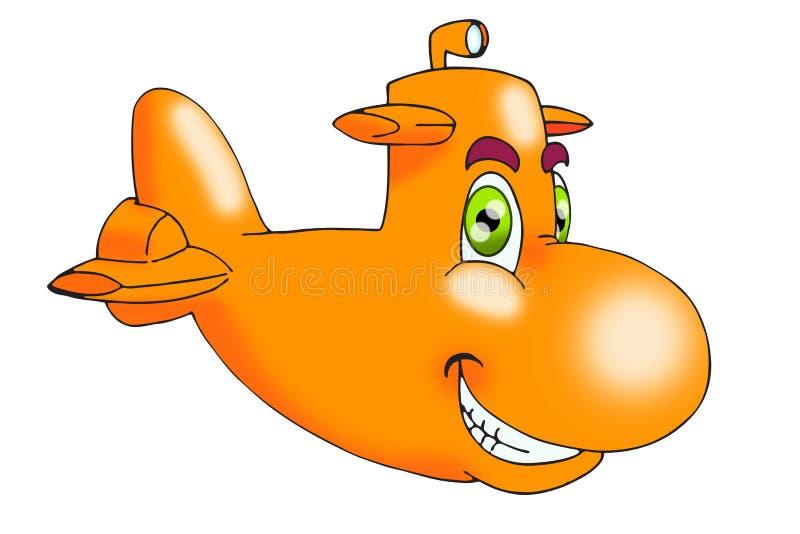 橙色潜水艇 向量例证