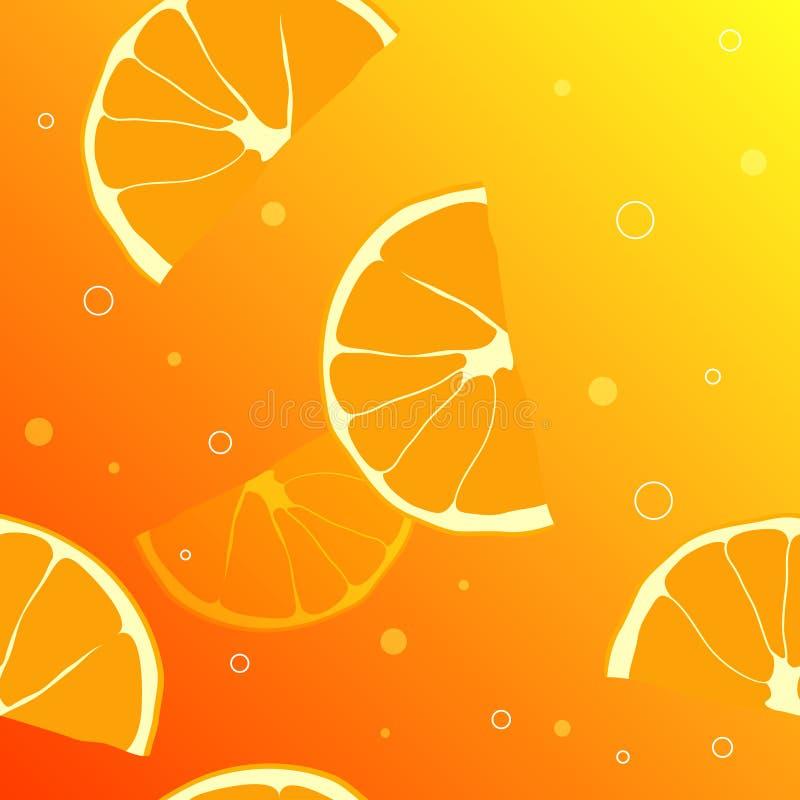 橙色片式背景  皇族释放例证