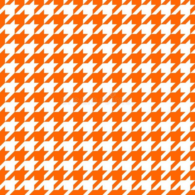 橙色犬牙设计 库存照片