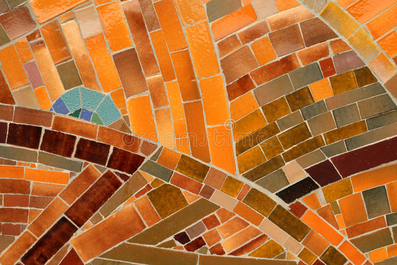 橙色瓦片 免版税图库摄影