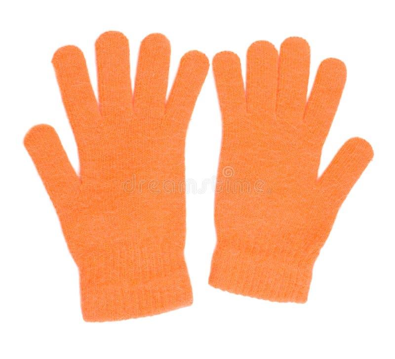 橙色的手套 免版税库存图片
