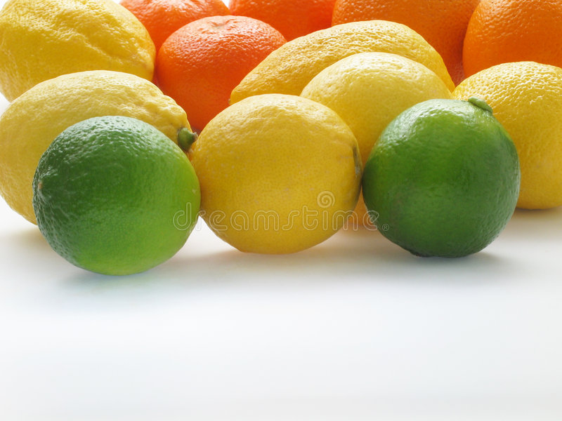橙色的柠檬 图库摄影
