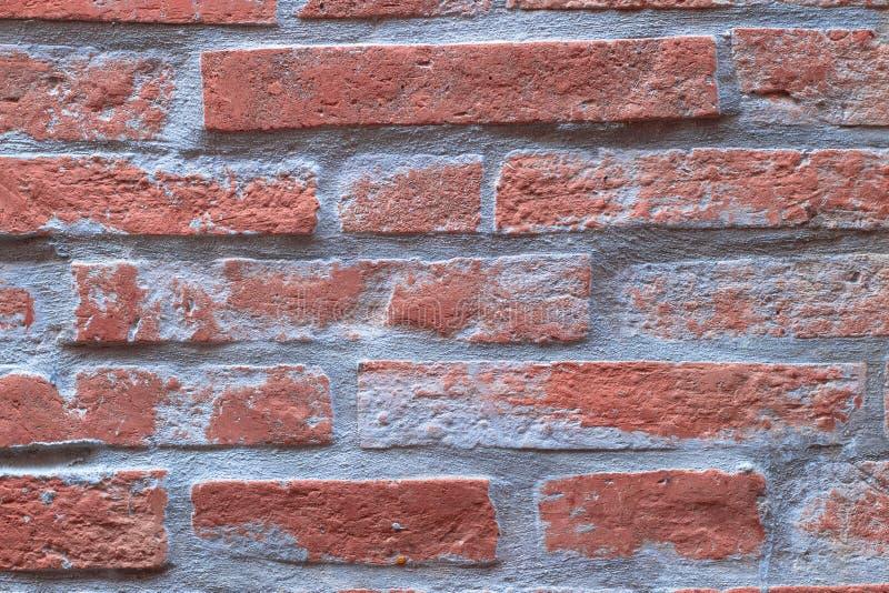 橙色砖墙纹理背景,瓦片样式变老了brickwor 免版税库存图片