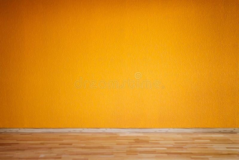 橙色空的室 库存图片