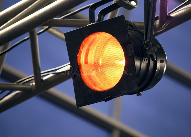 橙色聚光灯 库存照片