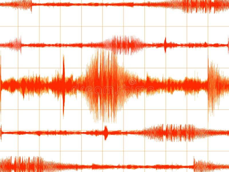 橙色色的地震的图形 向量例证
