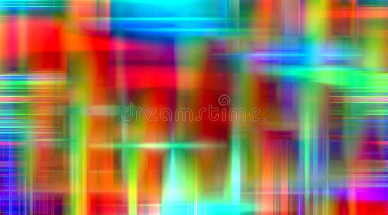 橙色蓝色桃红色绿灯背景,光背景,颜色,遮蔽抽象图表 抽象背景纹理 向量例证