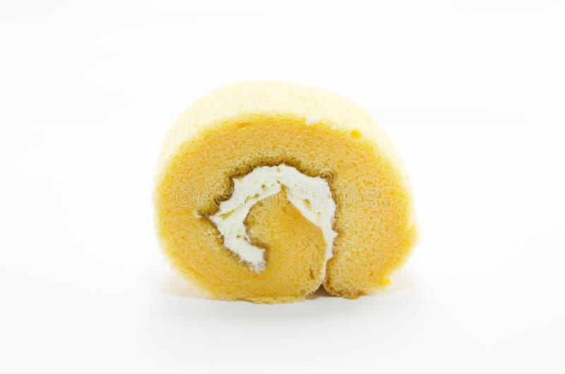 橙色蛋糕卷 免版税图库摄影