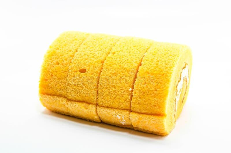 橙色蛋糕卷 库存图片