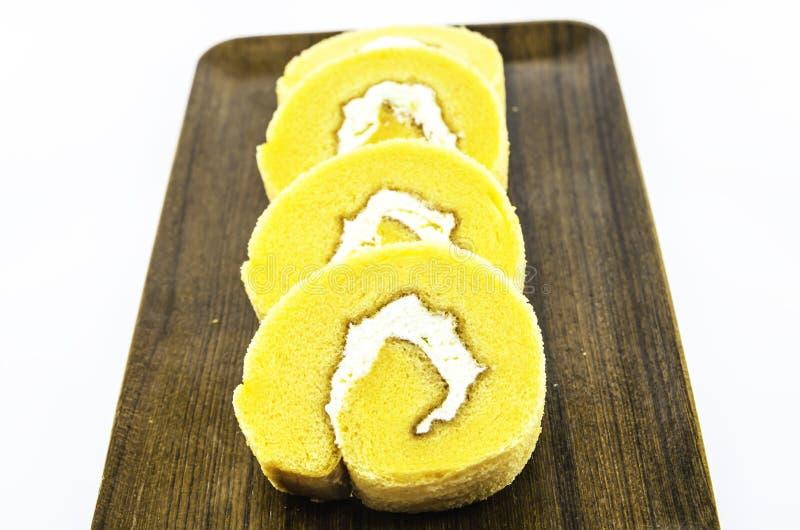 橙色蛋糕行 免版税库存照片