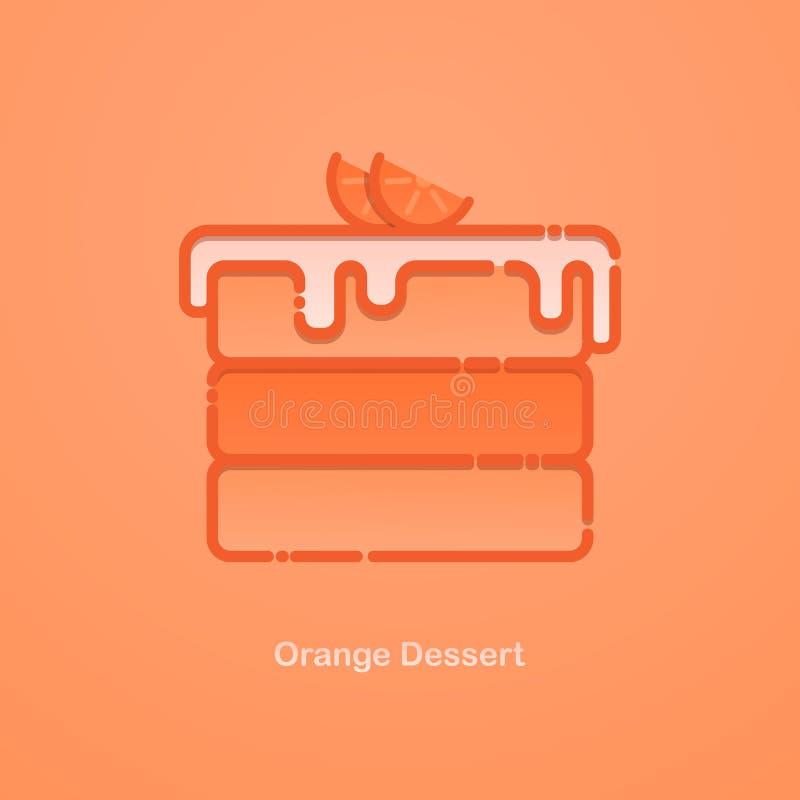橙色蛋糕 库存例证