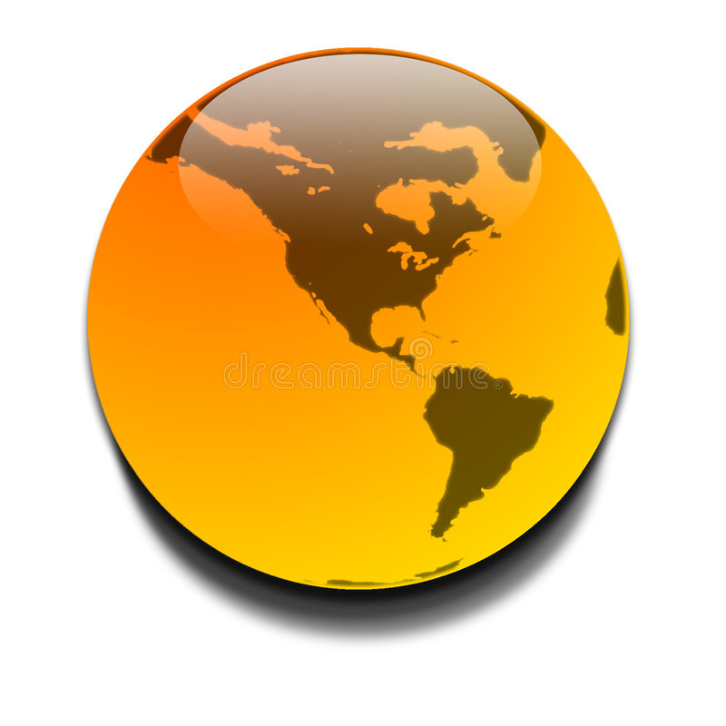 橙色行星 免版税库存照片