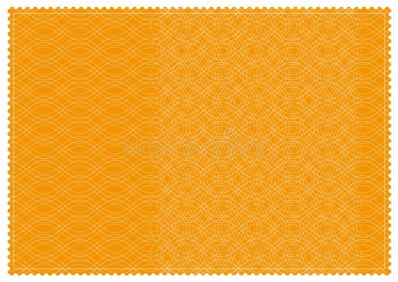 橙色被仿造的票 向量例证