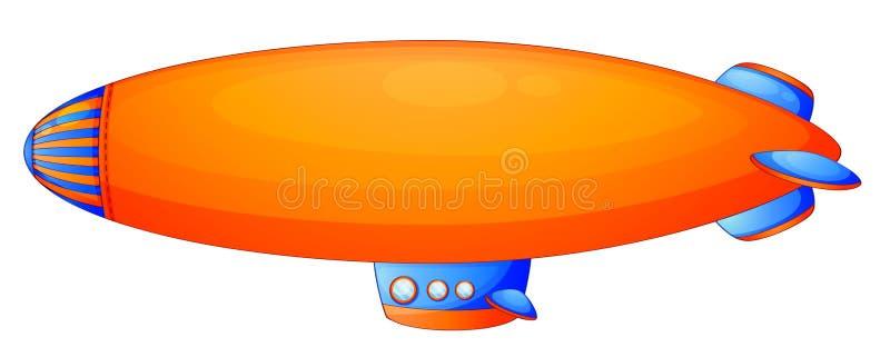 橙色软式小型飞艇 向量例证