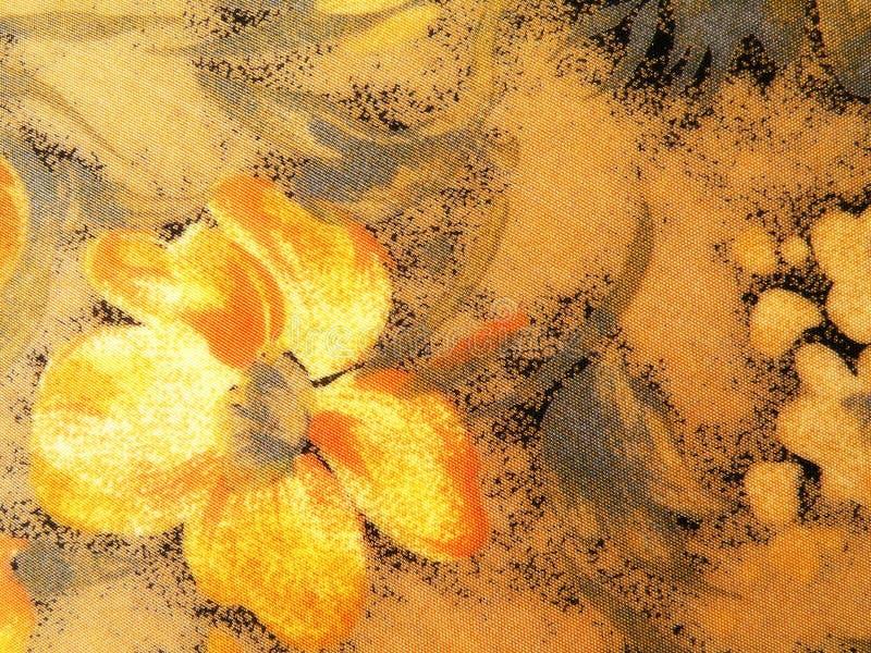橙色软的花卉织品 库存照片