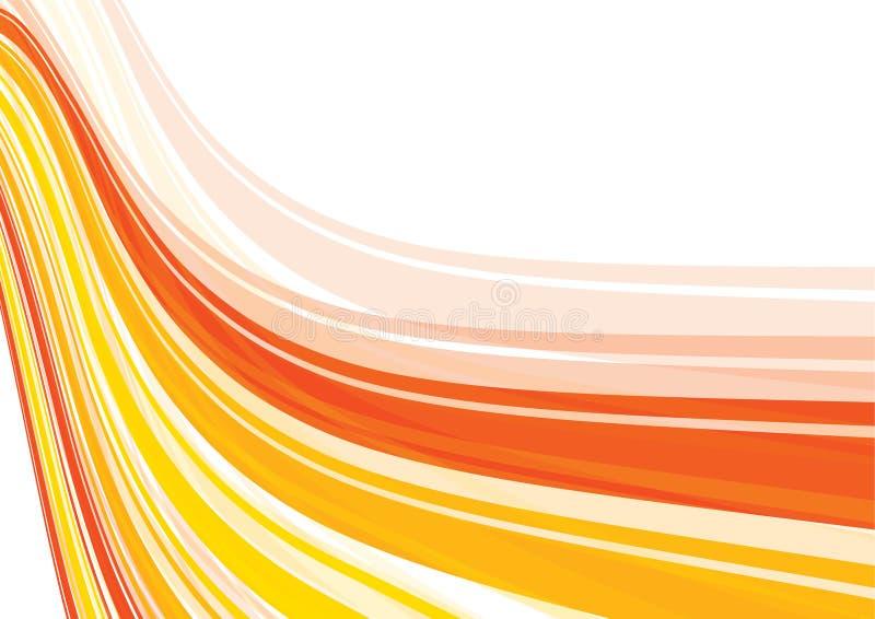 橙色透视图数据条 皇族释放例证